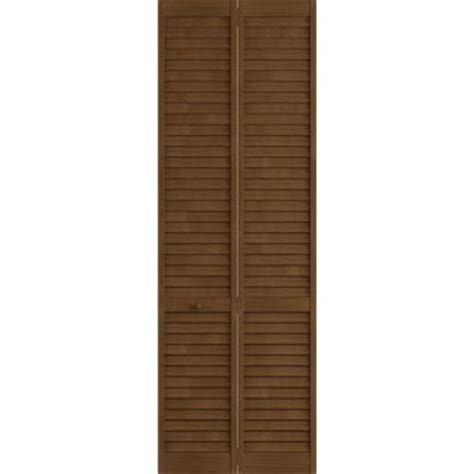 Louvered Doors Home Depot Interior Frameport 36 In X 96 In Louver Pine Espresso Plantation Interior Bi Fold Closet Door 3115461