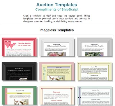 Auction Template Generator by Free Ebay Auction Template Generator Rachael Edwards