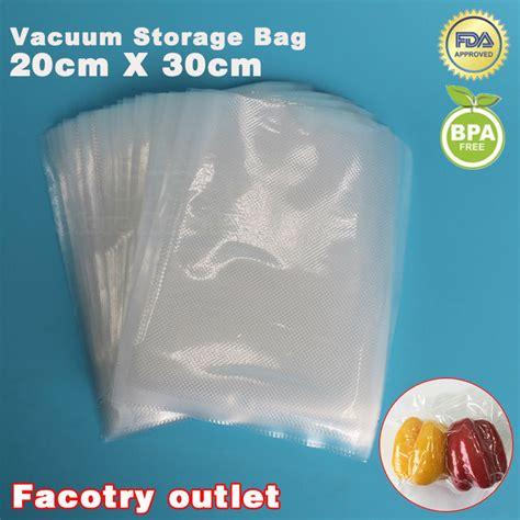 Plastik Vacuum 20 X 30cm Vakum Plastic Sealer Vacum Bag Promo 웃 유20cm x 30cm ᐂ 100pcs 100pcs food vacuum heat sealer packaging 웃 유 bag bag food saving storage