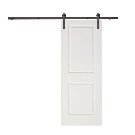 Sliding Closet Door Tracks Calhome 96 In Antique Bronze Classic Bent Barn Style Sliding Door Track And Hardware Set
