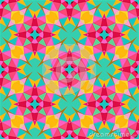bright pattern background vector multicolor geometric pattern in bright color stock