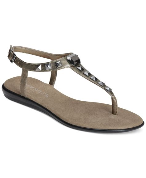 Flat Sandals Thongs Triset Shoes lyst aerosoles chlose together flat sandals in