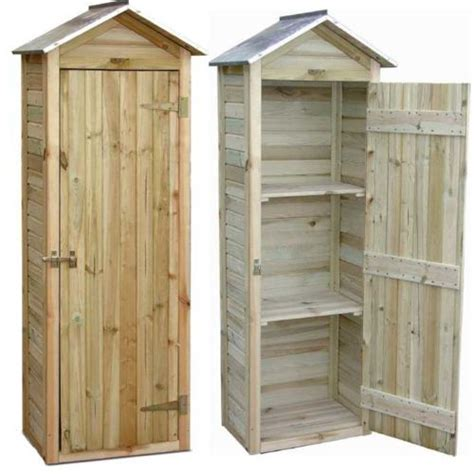 Jardipolys   Petite armoire de jardin en pin   pas cher