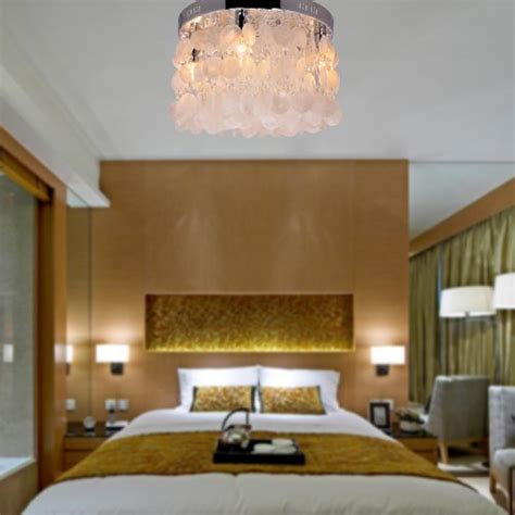 general lighting fixtures for the bedroom lightinthebox 174 modern white shell crystal home ceiling
