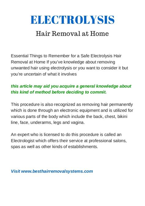 electrolysis hair removal articles om hair