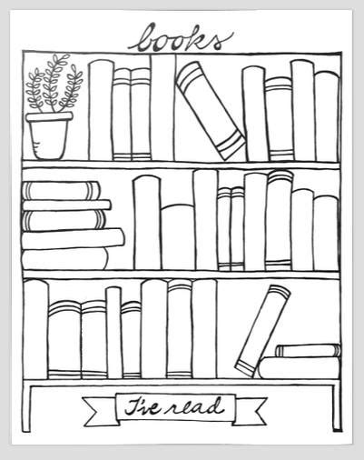 Books I've Read bookshelf graphic organizer printable