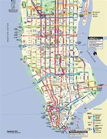 Bus Map New York by Manhattan Bus Map Car Interior Design
