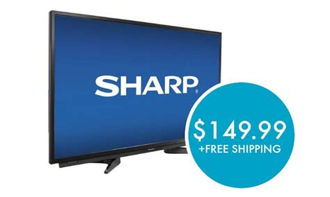 best tv deals today sharp 32 quot led 1080p hdtv just 149 99 shipped reg