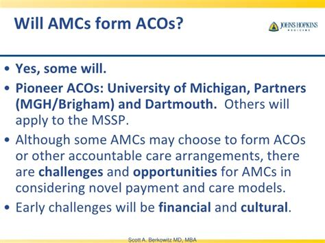 Of Michigan Health Care Mba by Berkowitz Accountable Care Organization Quot Aco