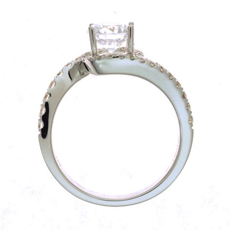 Ring Settings by Quot Curvy Quot Engagement Ring Setting In 18kt White Gold