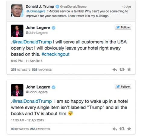 donald trump tweets donald trump started a twitter fight with t mobile s ceo