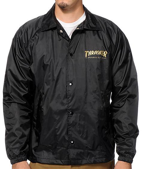 Jaket Trasher thrasher pentagram coaches jacket zumiez