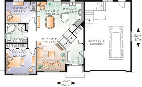 multi level home plans split level multi level house plan 2136 sq ft home plan