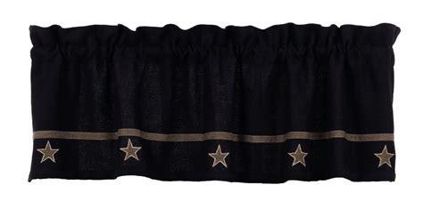 black burlap curtains burlap star black curtain valance 60 quot x 16 quot