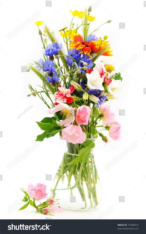 Bouquet Of Flowers In A Vase by Flowers Bouquet Vase Stock Photo 77480014