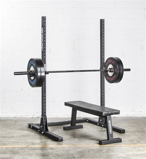 benching in the squat rack rogue s 1 squat stand 2 0 weight training 1 8 meter