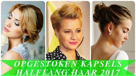 Opsteekkapsels Halflang Haar by Opgestoken Kapsels Halflang Haar 2017
