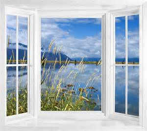 Window Wall Mural Wim20 View Of Lake Idaho Window Illusion Wall Sticker
