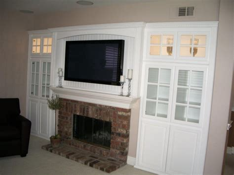 fireplace wall units built in tv cabinet above fireplace