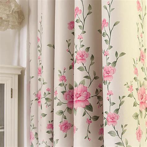 Pink Floral Curtains Pink Floral Print Poly Cotton Blend Country Curtains For Bedroom Or Living Room On Sale