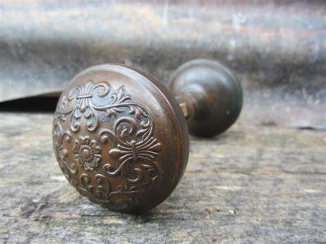 Door Knob Crafts by Antique Door Knob Decorated Ornate Matched Set Antique Door