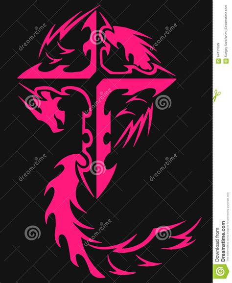 pink cross tattoo maori illustrations vector stock images 840