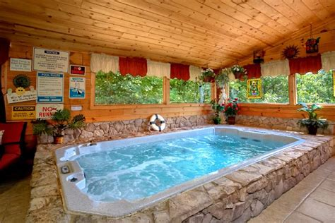 Cottages To Rent With Indoor Pool by Premium Cabin Near Dollywood With Indoor Swimming Pool