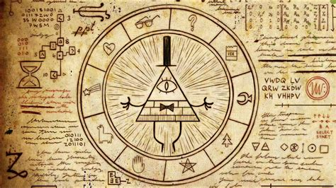 Gravity Falls Bill Cipher Wheel | gravity falls fanpage images bill cipher wheel hd