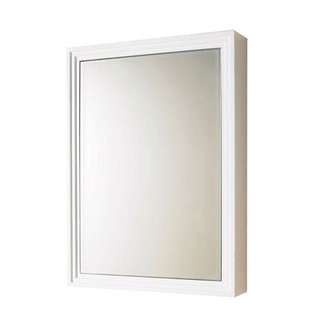 home depot white medicine cabinet decolav 22 in w x 30 in h x 5 in d framed surface mount