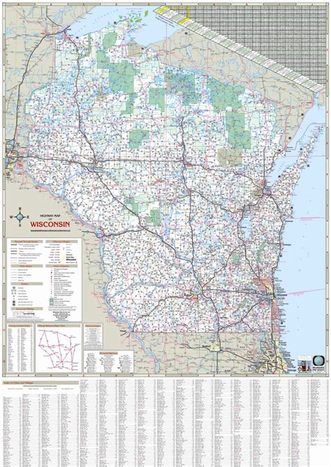 us wall map with interstates themapstore wisconsin state highway wall map