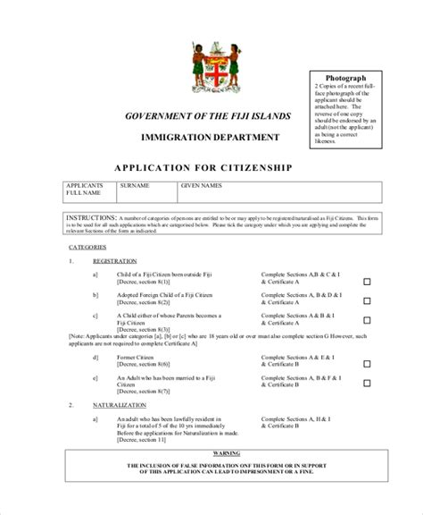 Documents Citizenship Application