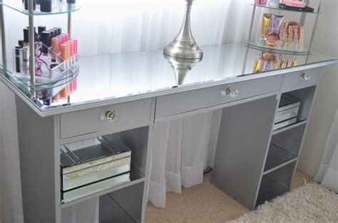 Diy Mirrored Desk Diy Mirror Vanity Table Reversadermcream
