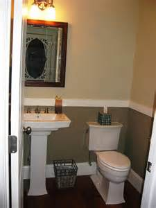half bathroom ideas half bath with 2 tone paint for the home pinterest