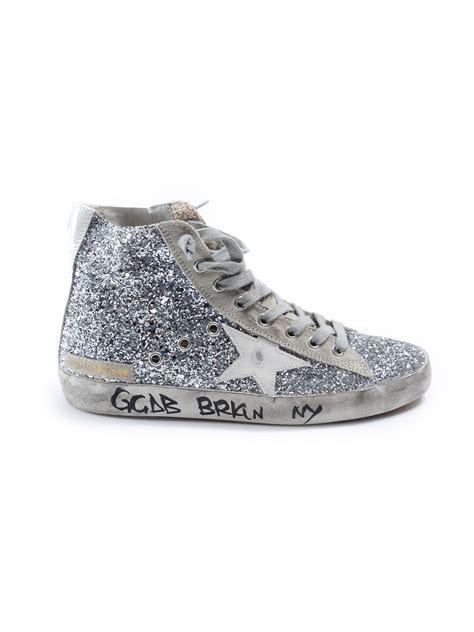 glitter sneakers golden goose deluxe brand francy glitter sneakers in