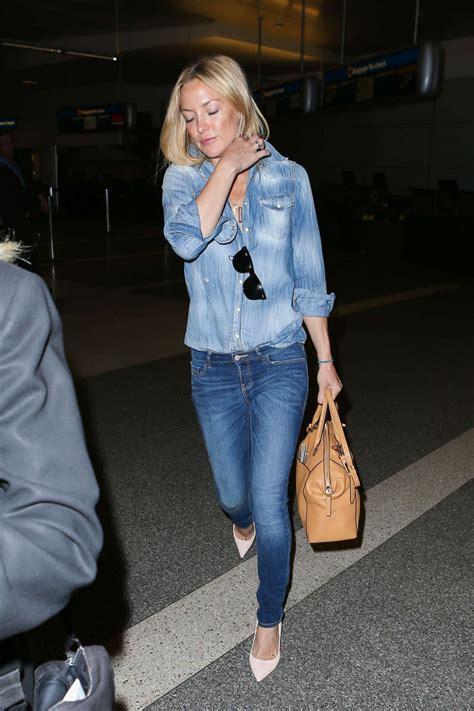 Denim Kate Hudson by Kate Hudson In At Los Angeles International Airport
