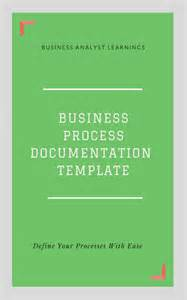 business process documentation template business process documentation bpd template