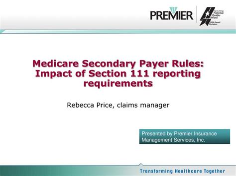 section 111 medicare ppt medicare secondary payer rules impact of section