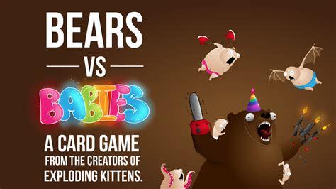 Bears Vs Babies Nsfw Expansion bears vs babies up on kickstarter tabletop gaming news