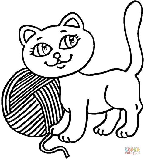 coloring pages for yarn and yarn coloring page free printable coloring pages