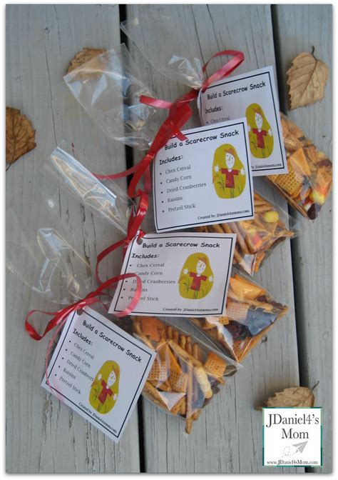 printable halloween bag decorations scarecrow snack idea this post includes the snack bag tag