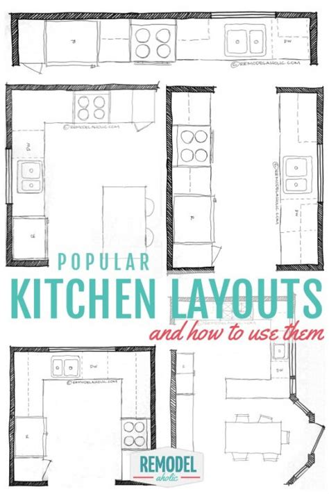 kitchen plans and designs remodelaholic popular kitchen layouts and how to use them