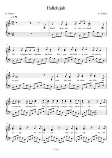 leonard cohen hallelujah full version lyrics pentatonix hallelujah piano sheets piano sheet