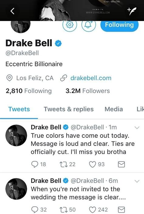 twitter drake the consumed life tips and news drake bell tweets