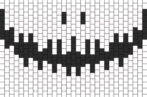black and white kandi mask pattern smiling skeleton mask bead pattern peyote bead patterns