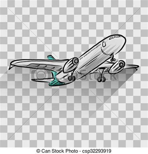 Ombre Background clip art vecteur de avion isol 233 transparent avion
