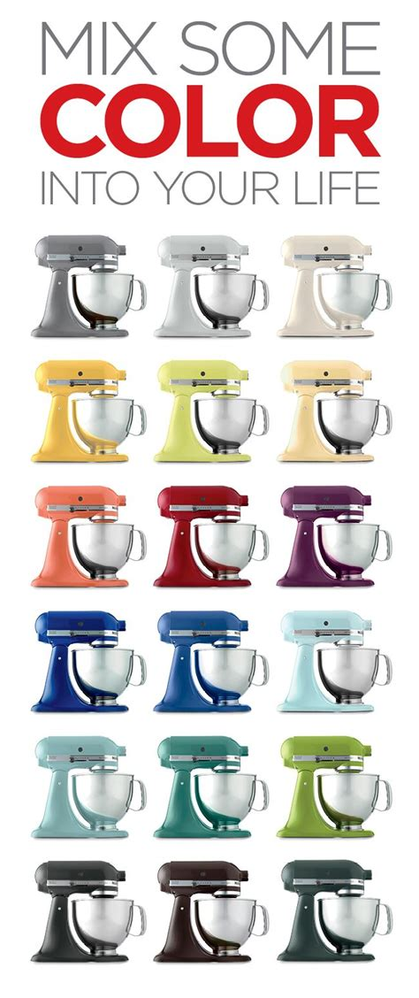 kitchenaid mixer colors 18 kitchenaid mixers in every color imaginable which is your fave kitchenaid love