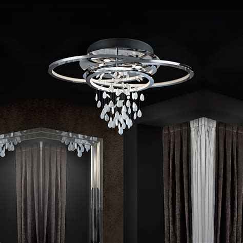 contemporary chrome ceiling light