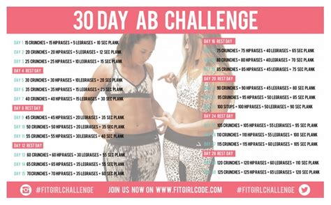 30 day abs challenge chart the beginner s guide to 30 day ab challenge 2016