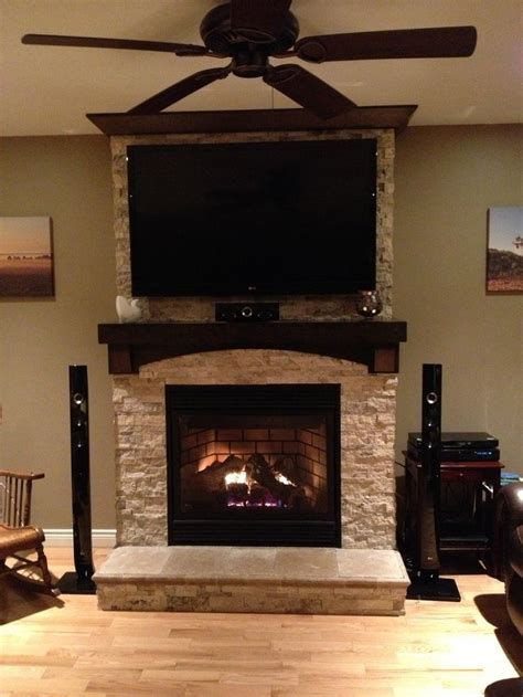 television over fireplace stone fireplace with tv stone on fireplace with tv