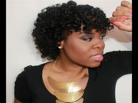 short natural hairstyles with rod curls twist curl perm rod set hair tutorial on quot natural hair